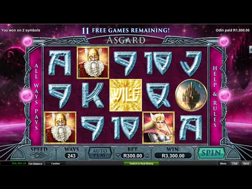 Silversands Casino Video Slot: Asguard