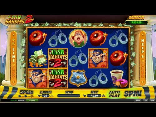 Silversands Casino Video Slot: Cash Bandit 2
