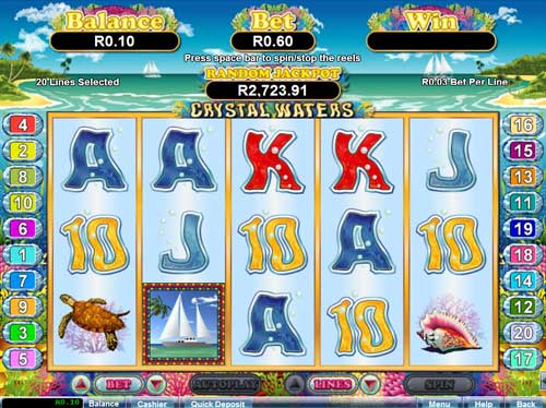 Yebo Casino Video Slot Game: Crystal Waters